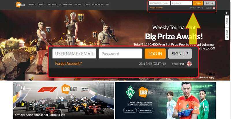 Links for 188Bet Club Login