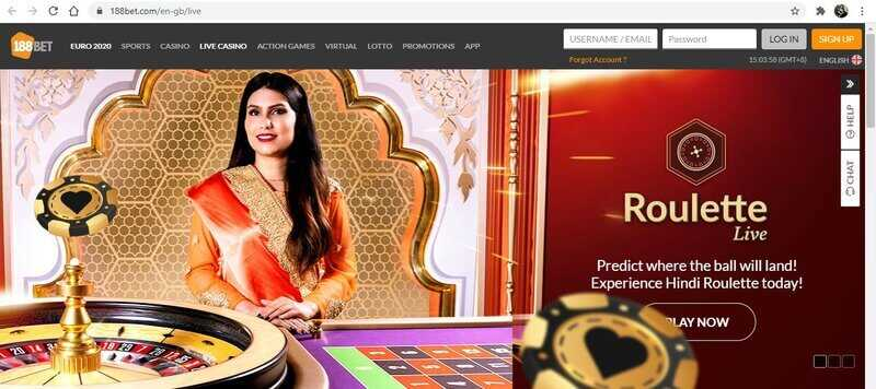 Roll Your Luck With the Revolving Wheel of 188BET India's Roulette Game