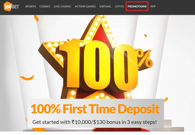 Take Advantage of These Promos Register and Login 188Bet India