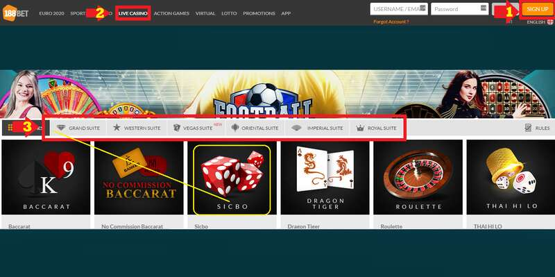 How to Play Sicbo 188Bet