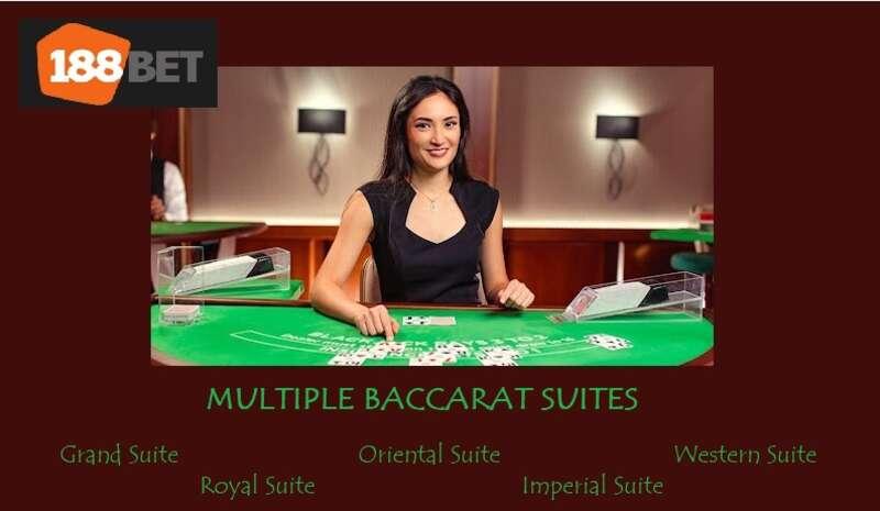Choose from Multiple Baccarat Live Online Suites